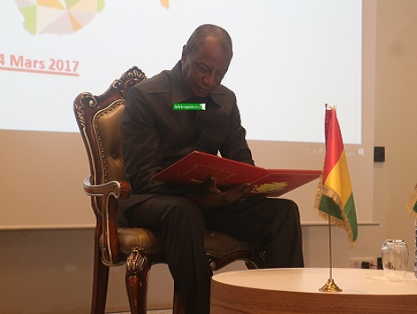 Alpha Condé, ¨Photo Boubacar Diallo, Africaguinee.com 2017