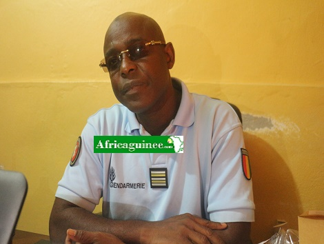 Colonel Mamadou Alpha Barry, officier de communication de la Gendarmerie nationale