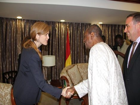 Alpha Condé et Samantha Power