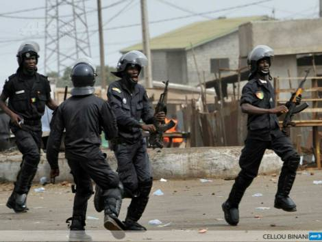 Des policiers en armes à Conakry-Photo d'illustration (Source: AFP)