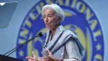 La directrice du FMI, Christine Lagarde, le 10 octobre 2014 à Washington. © AFP