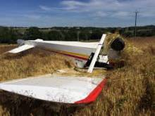 crash d'un avion de type ULM-TETRAS, image d'archive