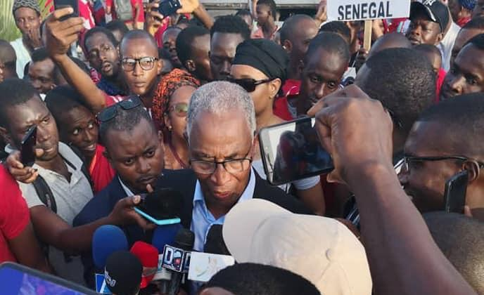 BAH Oury en marge d'une  manifestation contre le changement constitutionnel à Dakar