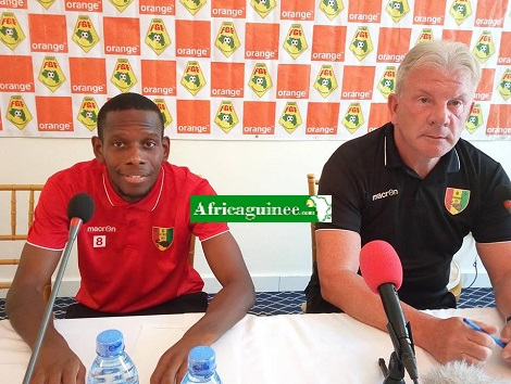 Ibrahim Traoré et Paul Put, le coach du Sily National
