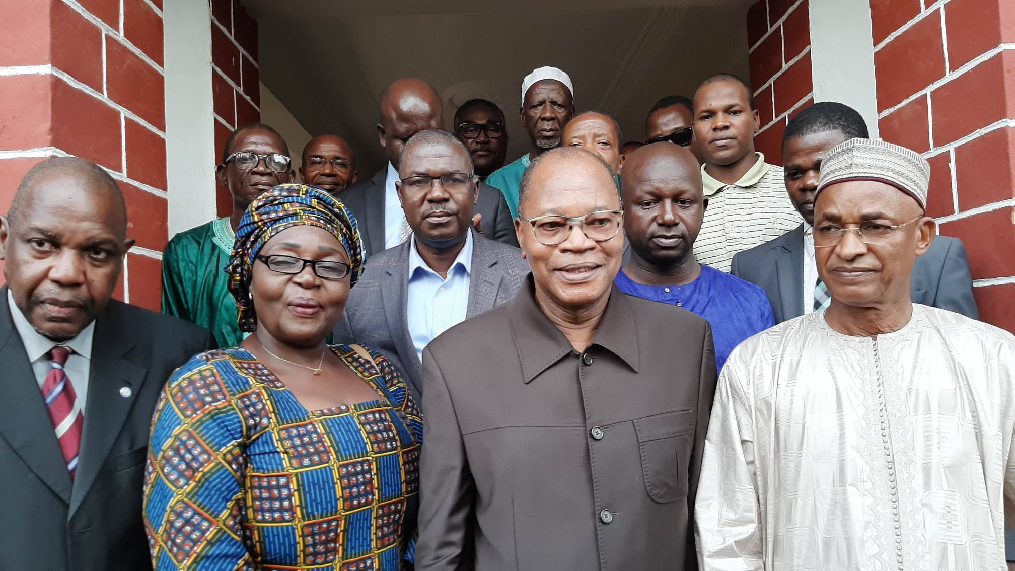 Mohamed Ibn Chambas et des leaders de l'opposition