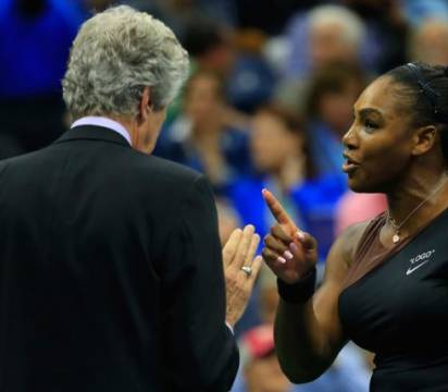 La star du tennis Serena Williams enrage devant l'arbitre de l'US Open-AFP