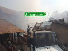 Incendie à Yimbaya, conakry